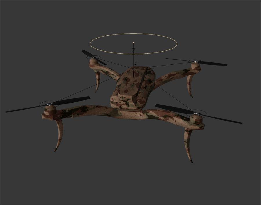 Quadrocopter Drone Kamuflajı royalty-free 3d model - Preview no. 8