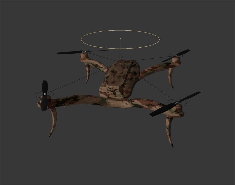 Quadrocopter Drone Kamuflajı royalty-free 3d model - Preview no. 9