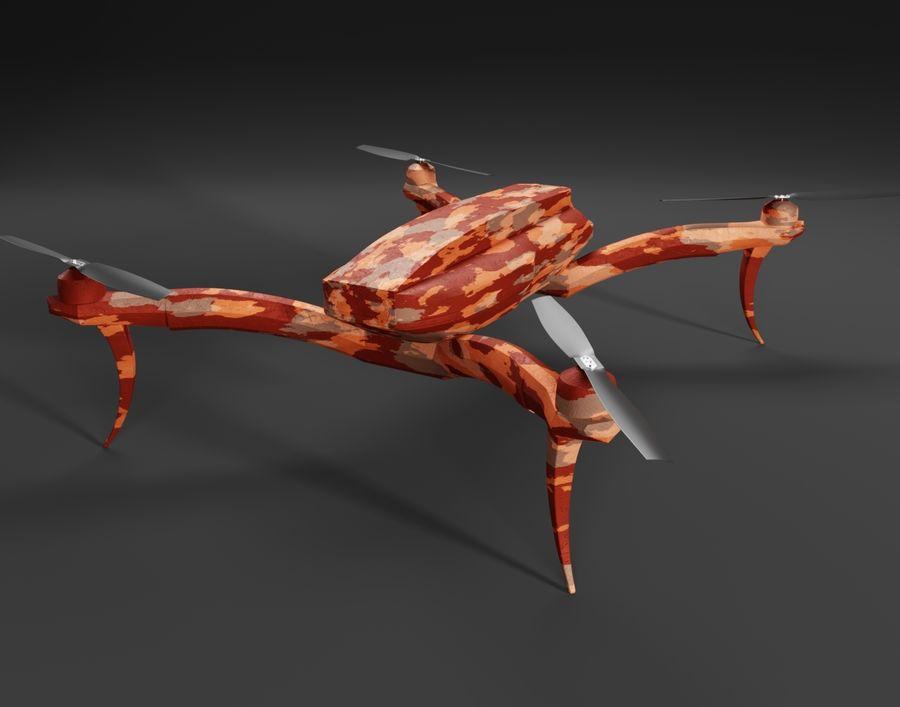 Quadrocopter Drone Kamuflajı royalty-free 3d model - Preview no. 3