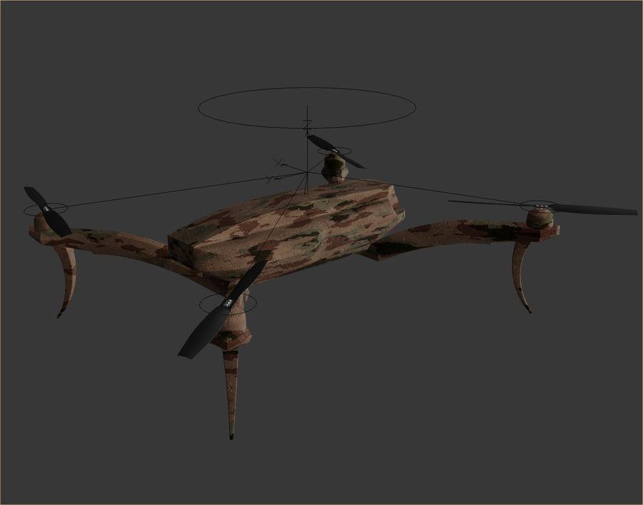 Quadrocopter Drone Kamuflajı royalty-free 3d model - Preview no. 7