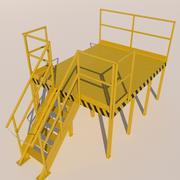 área de serviço 3d model