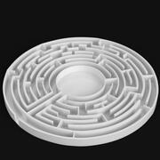 円形迷路 3d model
