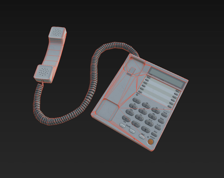 Telefone Comercial royalty-free 3d model - Preview no. 12