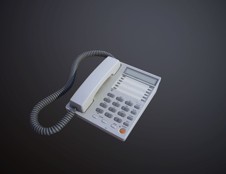 Telefone Comercial royalty-free 3d model - Preview no. 1