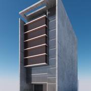 Modern gebouw buitenkant 3d model