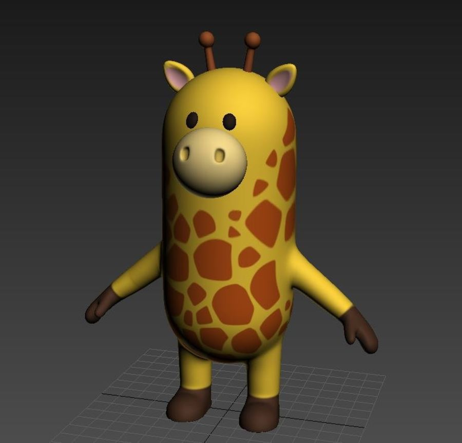 Rigged Cartoon Giraffe royalty-free 3d model - Preview no. 20