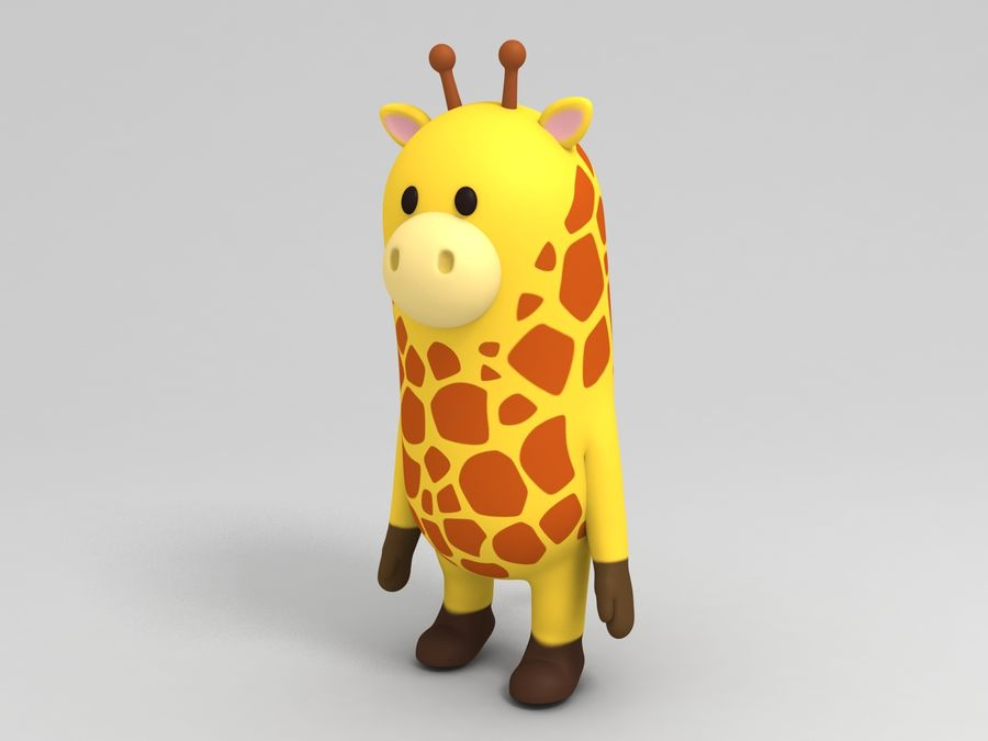 Rigged Cartoon Giraffe royalty-free 3d model - Preview no. 5