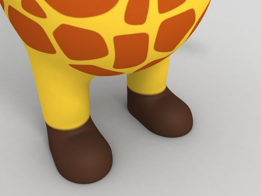 Rigged Cartoon Giraffe royalty-free 3d model - Preview no. 13