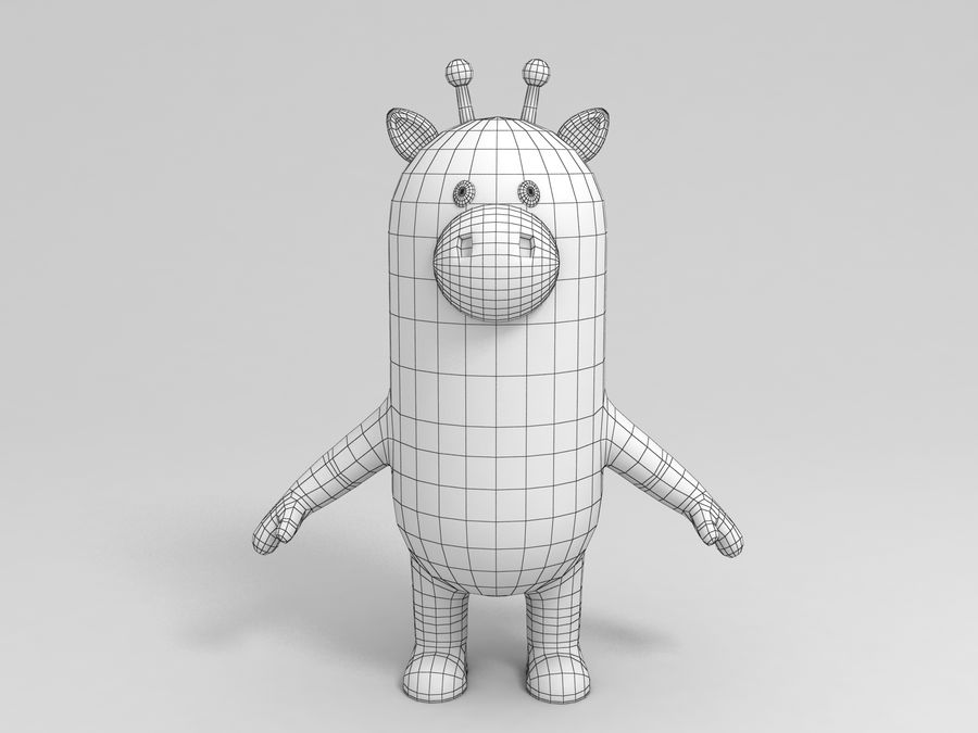 Rigged Cartoon Giraffe royalty-free 3d model - Preview no. 7