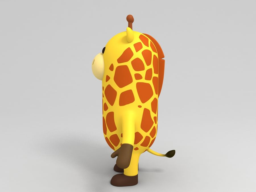 Rigged Cartoon Giraffe royalty-free 3d model - Preview no. 10
