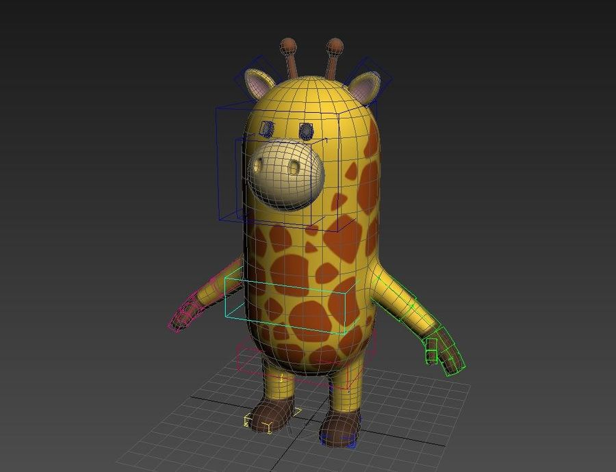 Rigged Cartoon Giraffe royalty-free 3d model - Preview no. 15