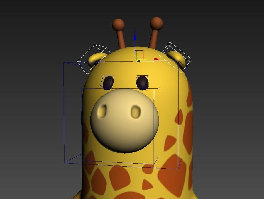 Rigged Cartoon Giraffe royalty-free 3d model - Preview no. 17
