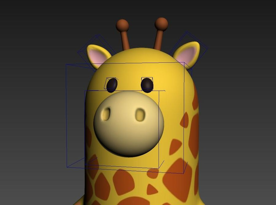 Rigged Cartoon Giraffe royalty-free 3d model - Preview no. 16