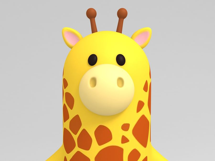 Rigged Cartoon Giraffe royalty-free 3d model - Preview no. 11