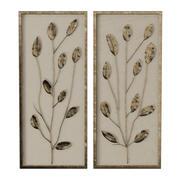 Ilustraciones de paneles de lino y pan de oro modelo 3d