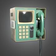 Retro Görüntülü Telefon (Midcentury Mod) - PBR Game Ready 3D 3d model