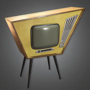Retro Television 01 (Midcentury Mod) - PBR Game Ready 3D 3d model