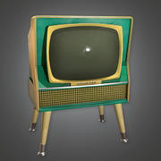 Retro Television 02 (Midcentury Mod) - PBR Game Ready 3D 3d model
