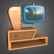 Retro Television 08 (Midcentury Mod) - PBR Game Ready 3D 3d model