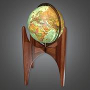 Retro Globe (Midcentury Mod) - PBR Game Ready 3D 3d model