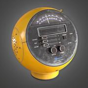 Retro Radio 01 (Midcentury Mod) - PBR Game Ready 3D 3d model