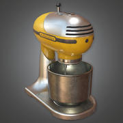Retro keukenmixer (Midcentury Mod) - PBR Game Ready 3D 3d model