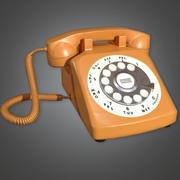 Retro Phone 01 (Midcentury Mod) - PBR Game Ready 3D 3d model