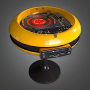 Retro platenspeler en luidsprekerset (Midcentury Mod) - PBR Game Ready 3D 3d model