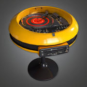 Retro Record Player and Speaker Set (Midcentury Mod) - PBR Game Ready 3D modelo 3d