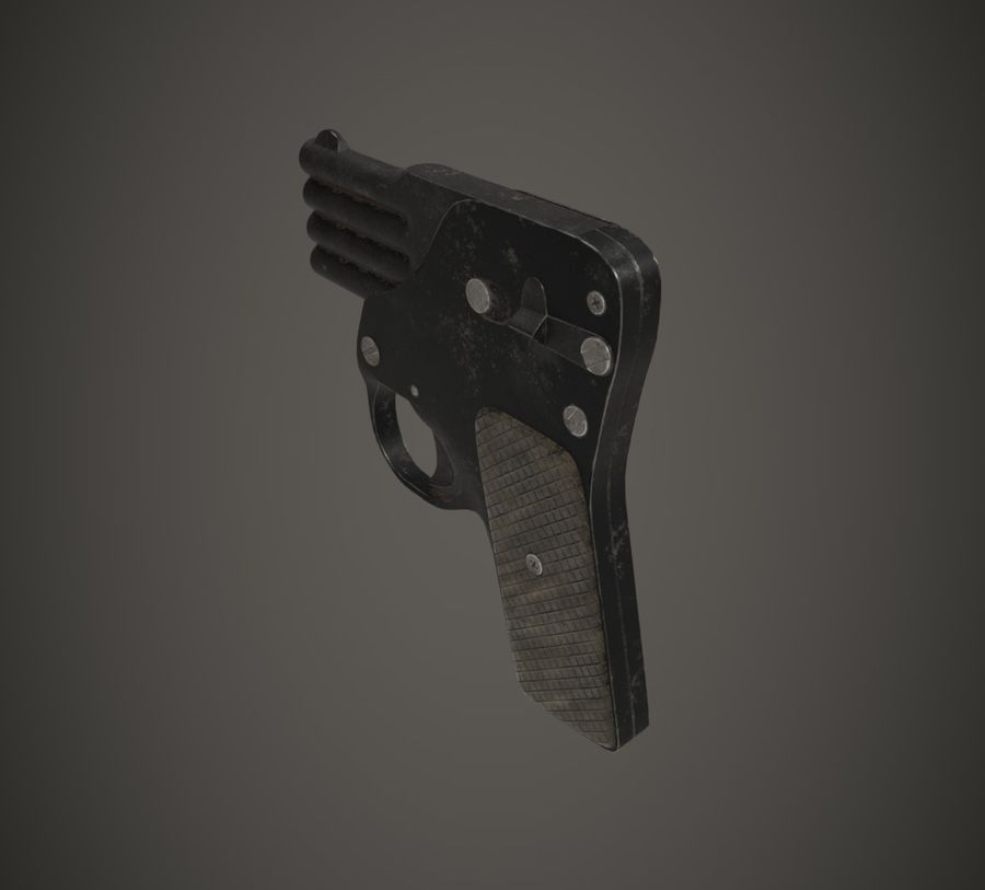 Flera tunnvapen royalty-free 3d model - Preview no. 3