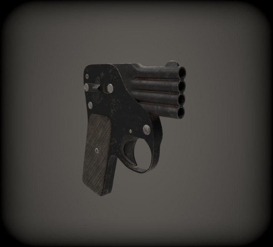 Flera tunnvapen royalty-free 3d model - Preview no. 4