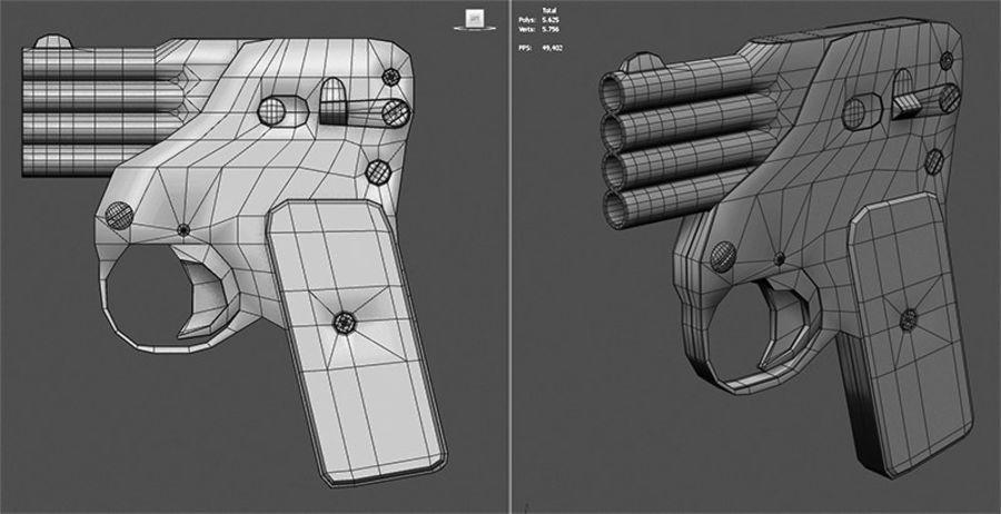 Flera tunnvapen royalty-free 3d model - Preview no. 5