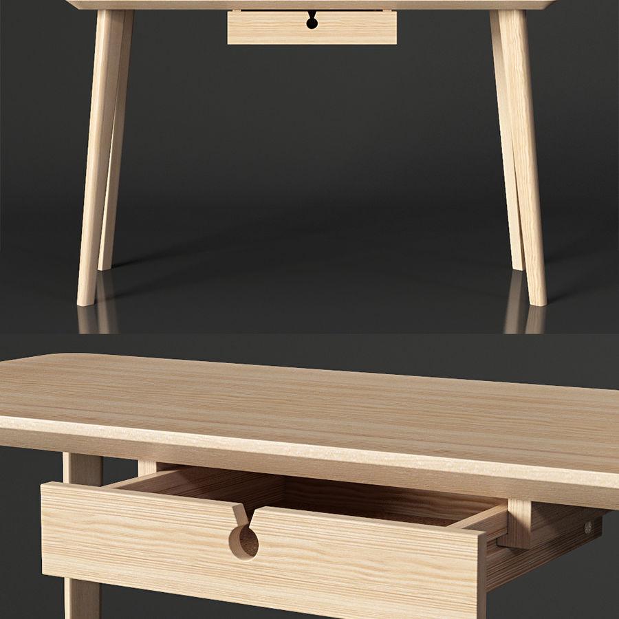 IKEA LISABO Schreibtisch royalty-free 3d model - Preview no. 4