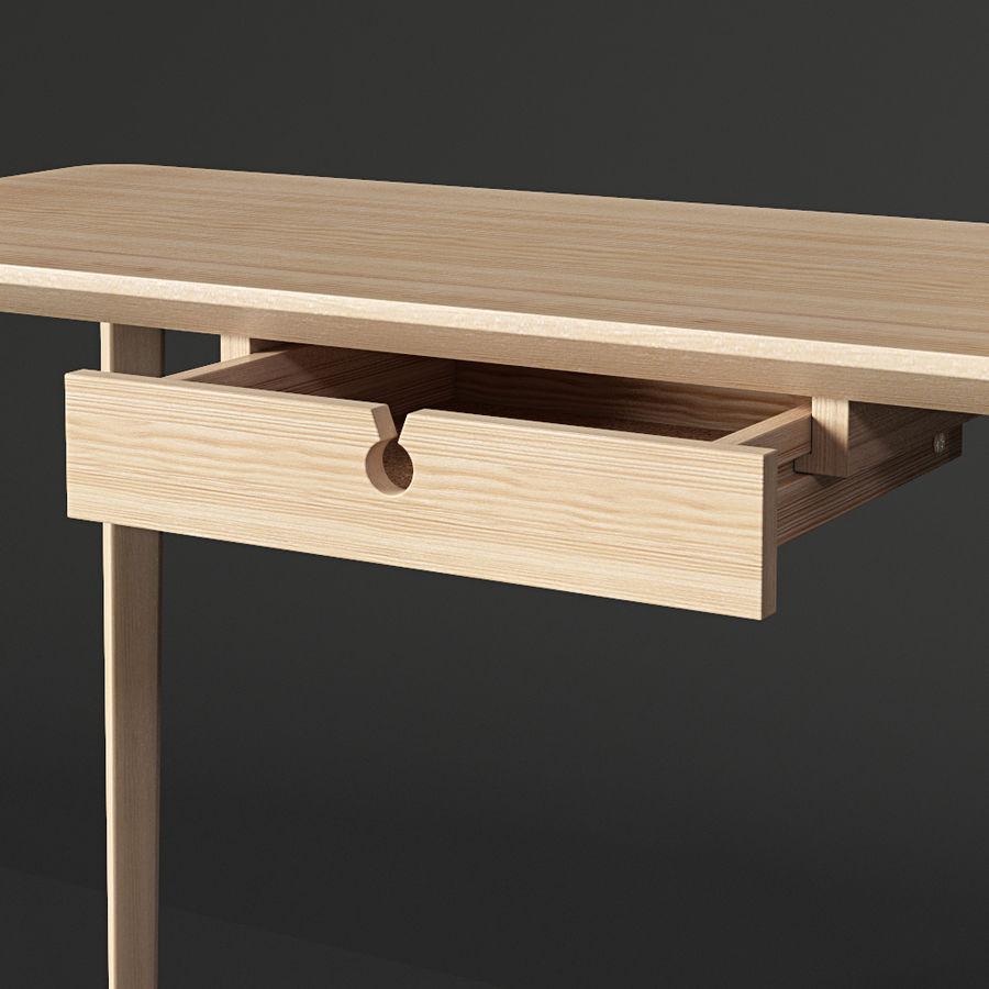 IKEA LISABO Schreibtisch royalty-free 3d model - Preview no. 3