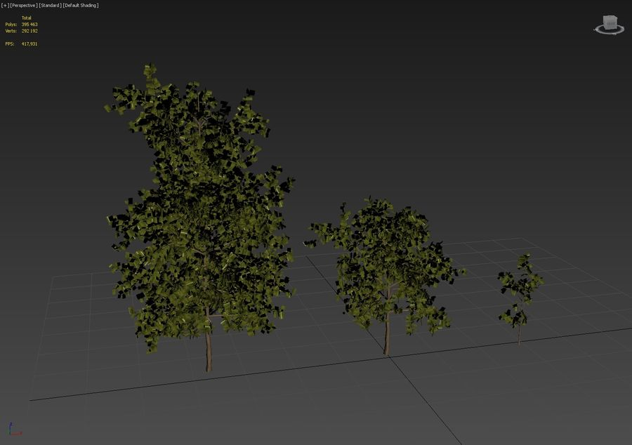 Tree pack A royalty-free 3d model - Preview no. 5
