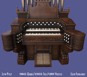 Antico organo a pompa vittoriano per pianoforte 3d model