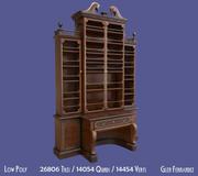 Antik viktoriansk bokhylla 3d model