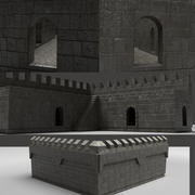 城堡墙 3d model