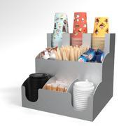 Bar Holder Organizer Paper Cup Dispenser Alluminium 3d model