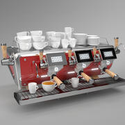 Astoria Coffee Machine Storm 3 groupe rouge 3d model