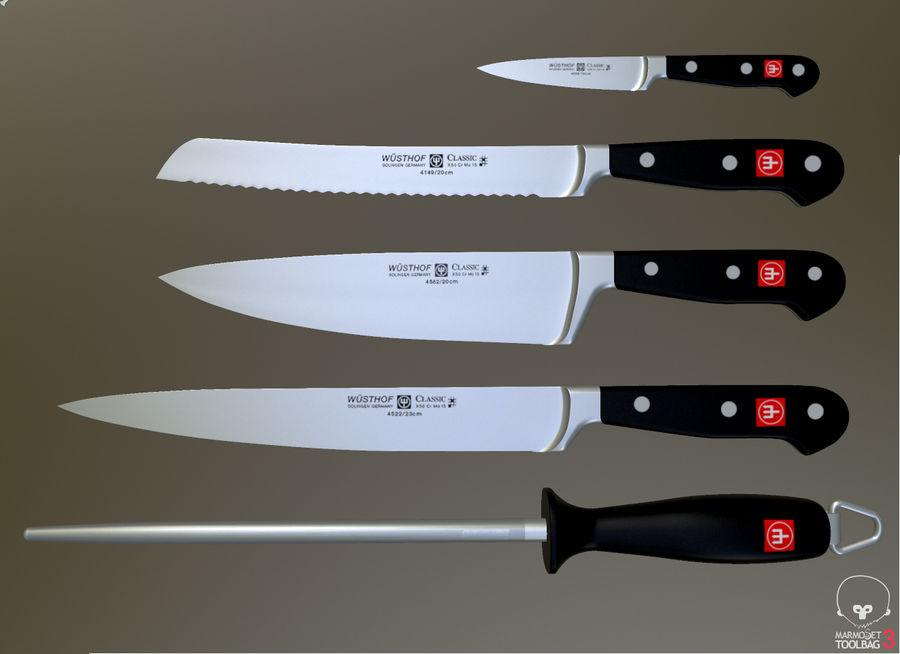 Gotuje noże royalty-free 3d model - Preview no. 2