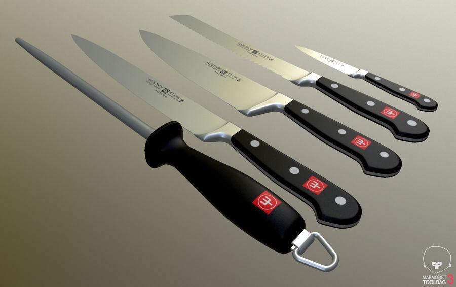 Gotuje noże royalty-free 3d model - Preview no. 4