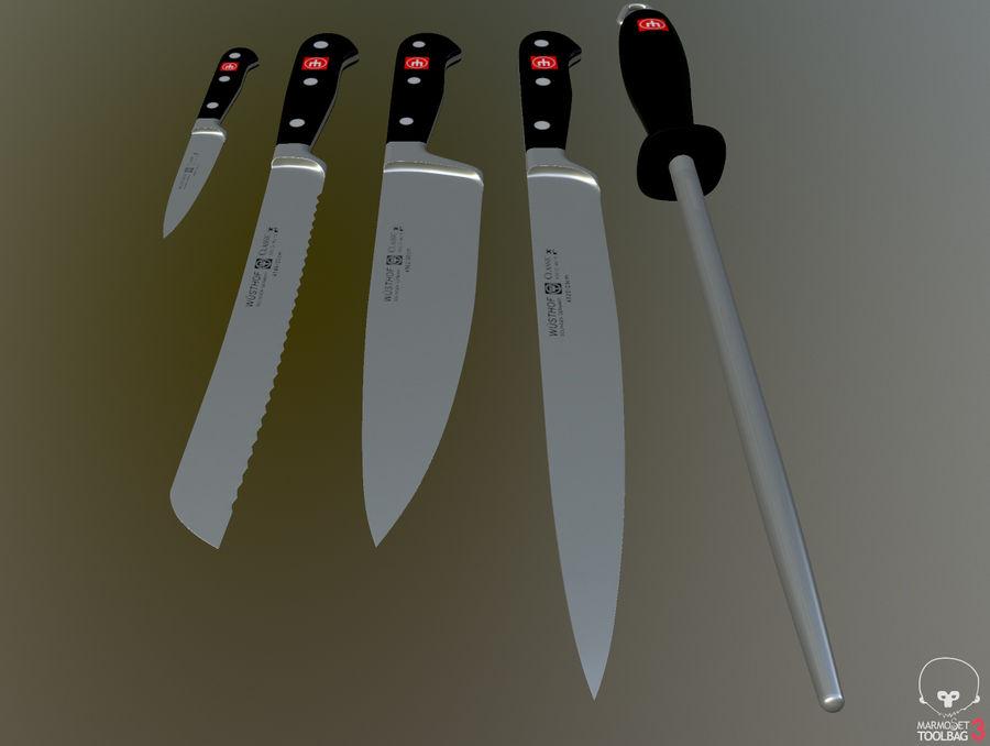 Gotuje noże royalty-free 3d model - Preview no. 3