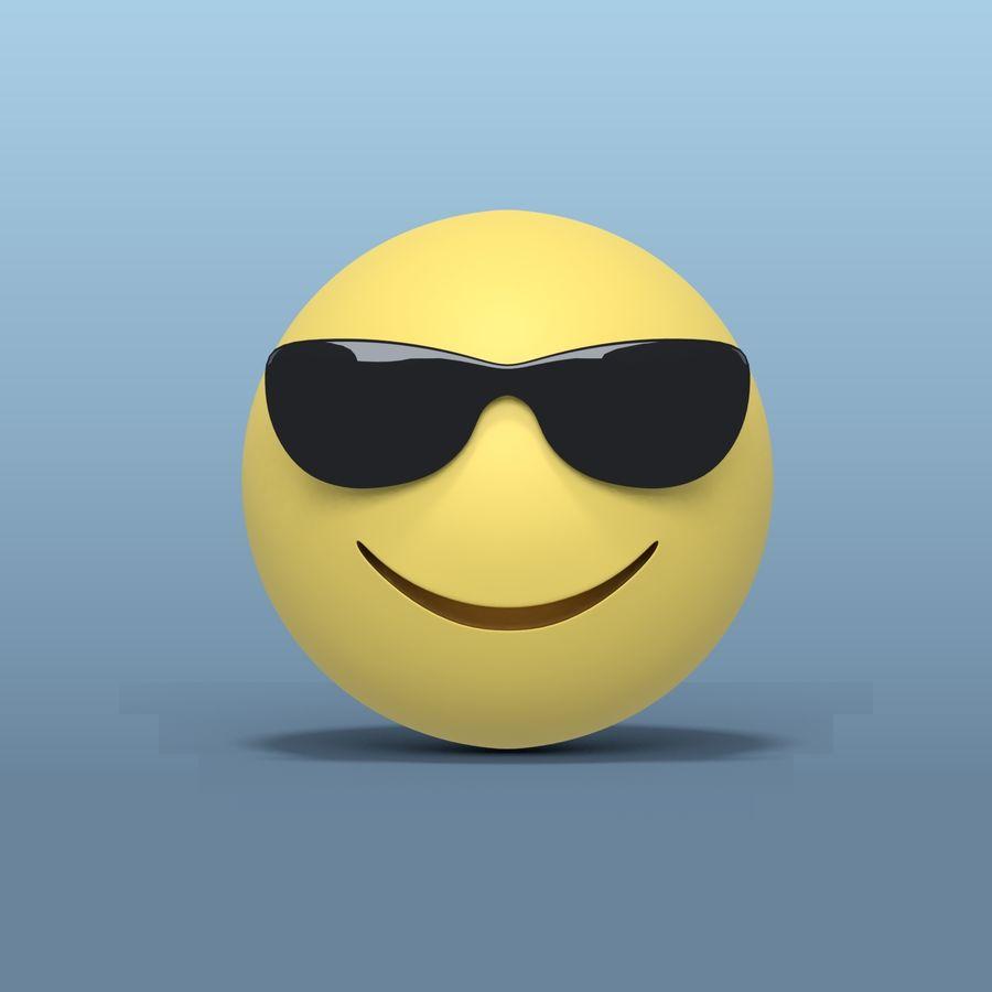 Smiley Avec Des Lunettes De Soleil Modele 3d 10 Blend Obj Fbx Dae 3ds Free3d