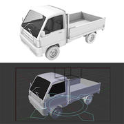 픽업 트럭 3d model