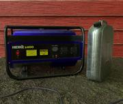 Generador eléctrico modelo 3d