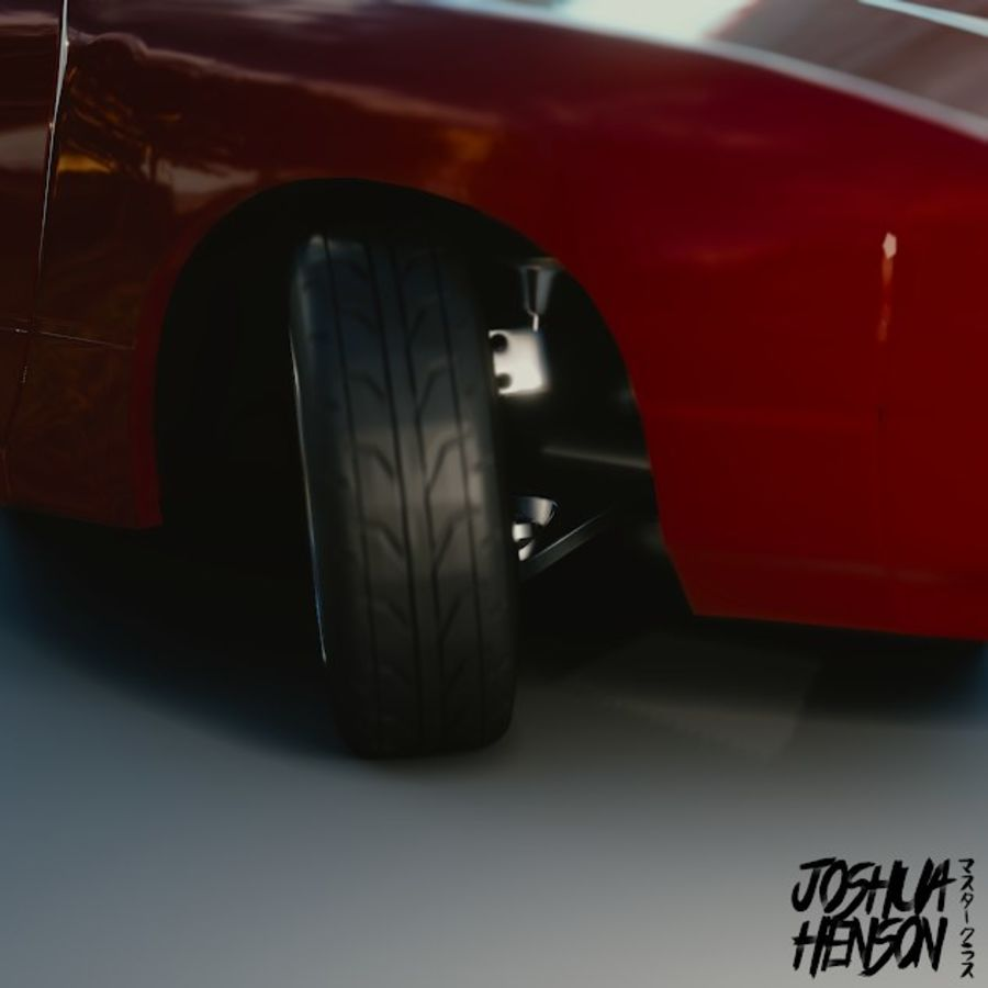 Nissan 240SX royalty-free 3d model - Preview no. 5