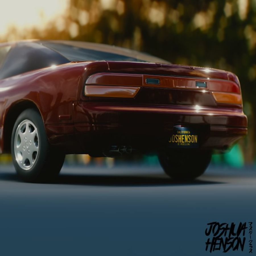 Nissan 240SX royalty-free 3d model - Preview no. 2