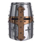 Hełm krzyżowca średniowiecznego rycerza tampliera 3d model