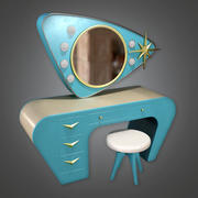 Vanity (Midcentury Mod) - PBR Game Ready 3D 3d model